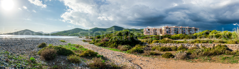 Experimental Beach in Cap Des Falco in Ibiza. Spain Stock photo © amok