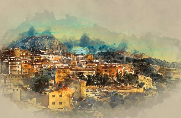Sella village, old village in Spain. Alicante province  Stock photo © amok
