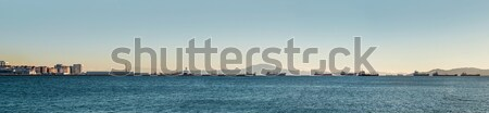 Panoramic view of mediterranean sea and roadstead in Gibraltar  Stock photo © amok