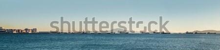 Panoramiczny widoku morze Śródziemne morza gibraltar górskich Zdjęcia stock © amok