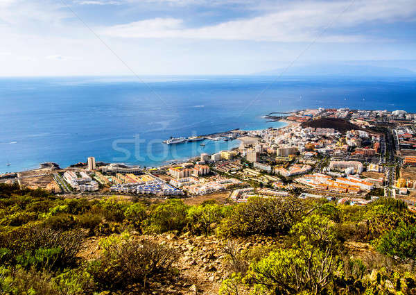 Los Cristianos and Las Americas, view from Guaza mountain Stock photo © amok
