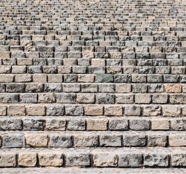 Tégla városi lépcsőház textúra város terv Stock fotó © amok