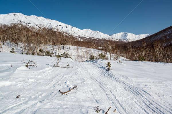 Montanha rota península Rússia paisagem Foto stock © amok