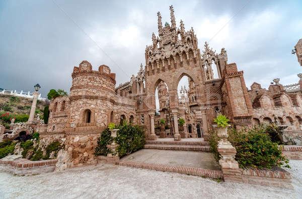 Castelo cidade Espanha dedicado explorador málaga Foto stock © amok