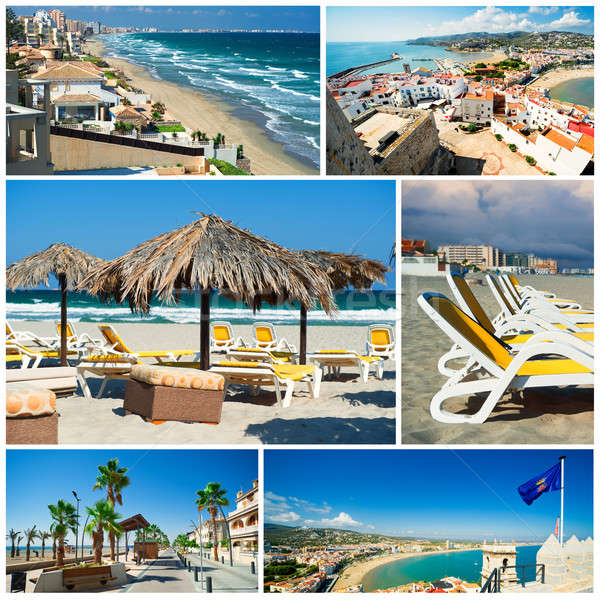 Touristic places of Spain,collage Stock photo © amok