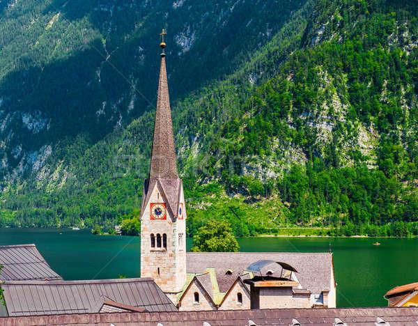 屋根 オーストリア 風景 緑 山 アーキテクチャ ストックフォト © amok