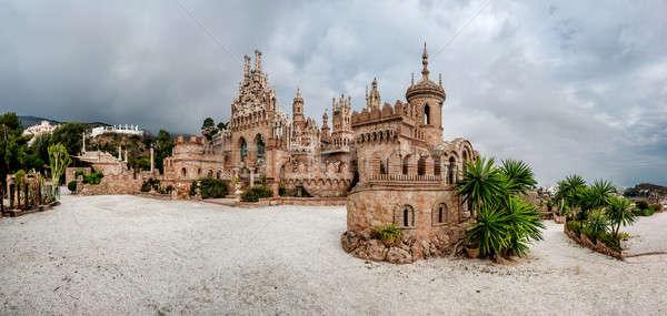 Panorama zamek Hiszpania panoramiczny widoku dedykowane Zdjęcia stock © amok