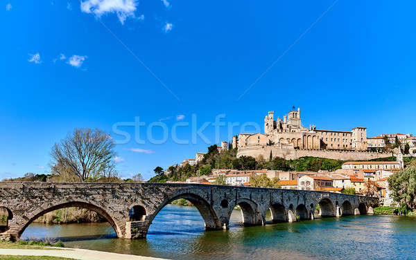 Beziers town, France Stock photo © amok
