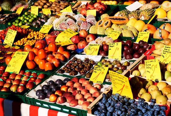 рынке разнообразие плодов город Германия улице Сток-фото © amok