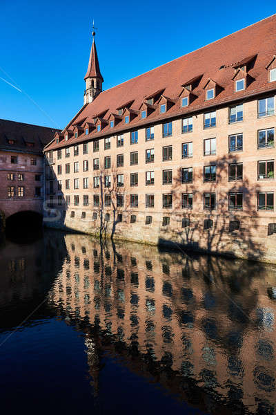 Ancient architecture and The Pegnitz river in Nuremberg, Bavaria Stock photo © amok