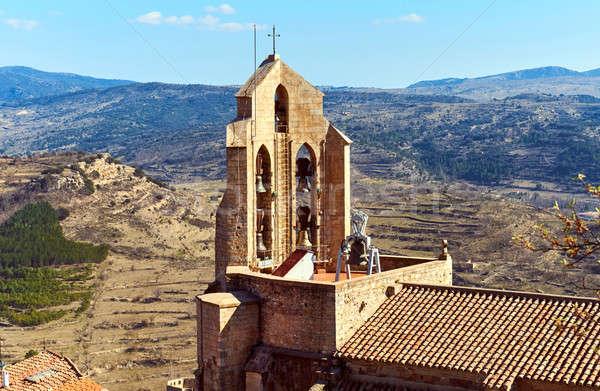 Capela Espanha antigo cidade comunidade castelo Foto stock © amok