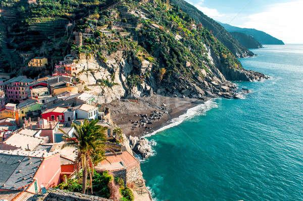 Ver beira-mar cidade la natureza viajar Foto stock © amok