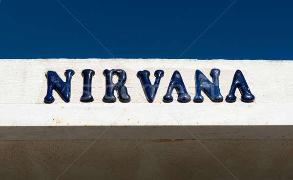 Nirvana buitenshuis ontwerp achtergrond Blauw boord Stockfoto © amok