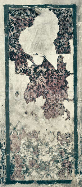 Old wall with damaged wallpaper Stock photo © amok