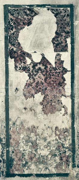 Starych ściany uszkodzony tapety budynku vintage Zdjęcia stock © amok
