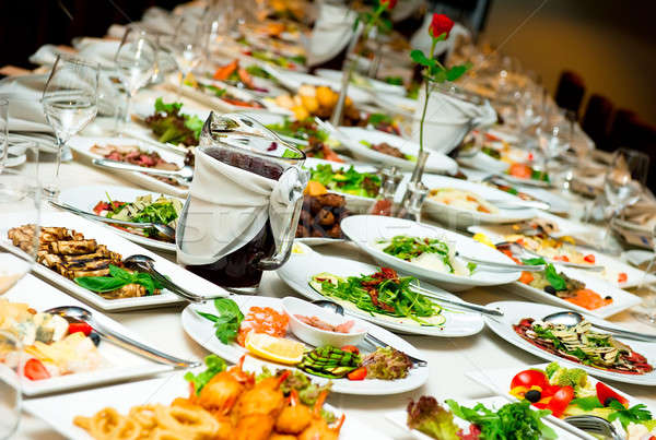 Table with food and drink  Stock photo © amok