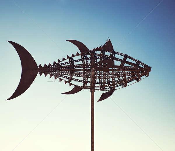 Tuna wind vane. Tarifa town, Cadiz. Spain Stock photo © amok