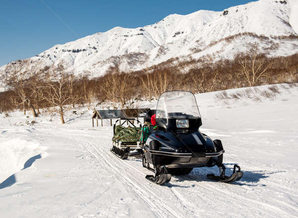 Snowmobile. Kamchatka, Far East, Russia Stock photo © amok