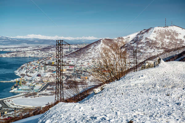 Stock photo: View of seaport. Petropavlovsk-Kamchatsky, Kamchatka, Russia