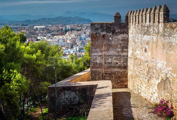 Malaga cityscape vue forteresse maison ville Photo stock © amok