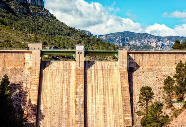 View of the Ulldecona reservoir. Valencian Community, Spain Stock photo © amok