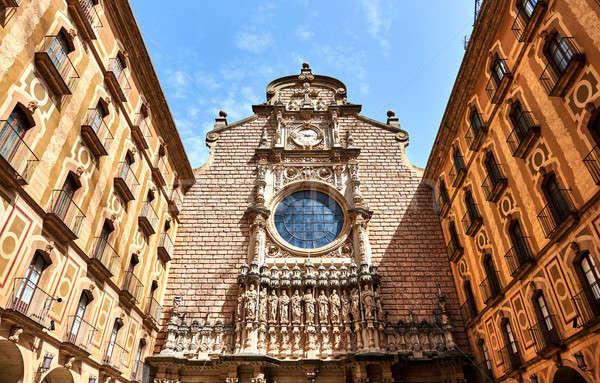 Courtyard of The Benedictine abbey of Santa Maria de Montserrat. Stock photo © amok