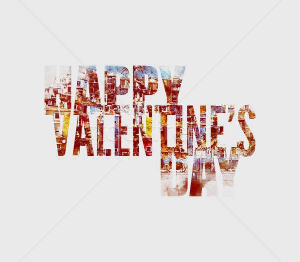 Happy Valentine's Day Greeting Card. Digital art Stock photo © amok
