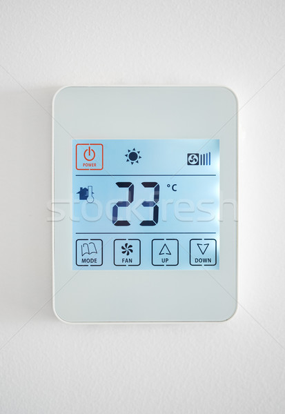 Climate control system on a white wall Stock photo © amok