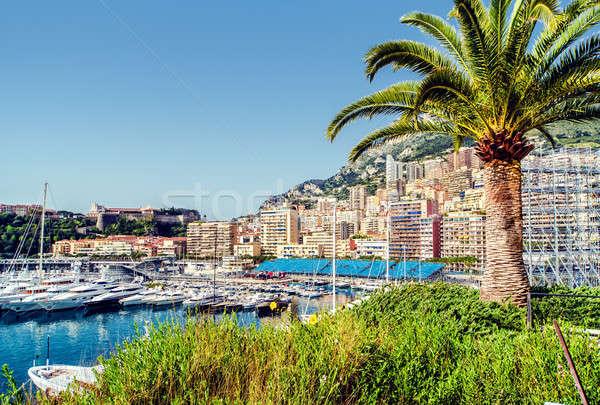 Port Monaco ville paysage architecture maisons Photo stock © amok