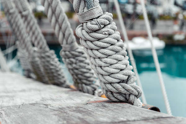 Ropes on a sailing ship Stock photo © amok