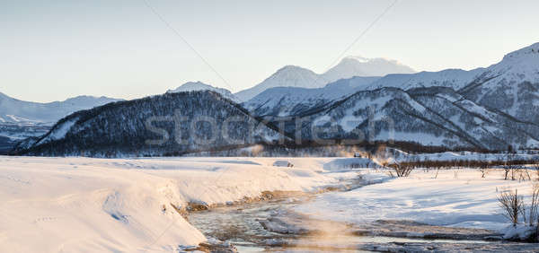 Nalychevo Nature Park at sunrise. Kamchatka, Far East, Russia Stock photo © amok