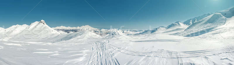 Panorama of Pinachevsky pass, route through a ridge in Kamchatka Stock photo © amok