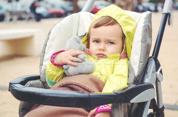 Adorable baby girl outdoors Stock photo © amok