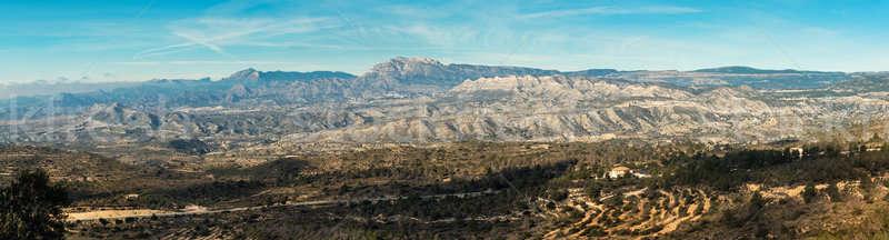 Panorama berg Valencia Spanje hemel Stockfoto © amok