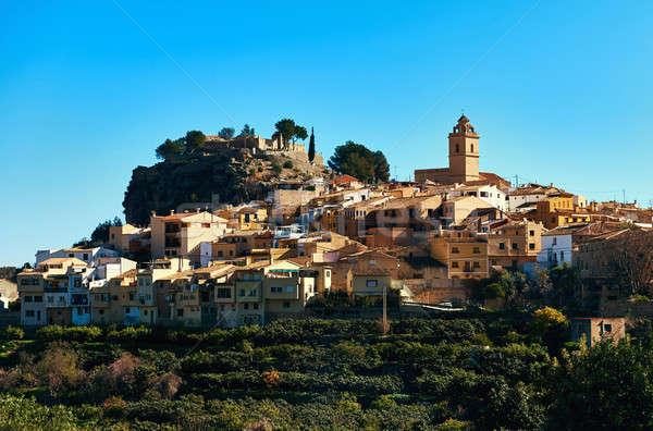 марина старый город Испания замок Церкви Сток-фото © amok