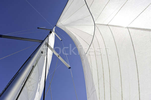 Sails and mast over blue sky background Stock photo © amok