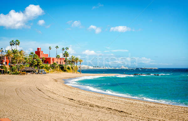 Picturesque coast in Benalmadena town. Malaga, Andalusia, Spain Stock photo © amok