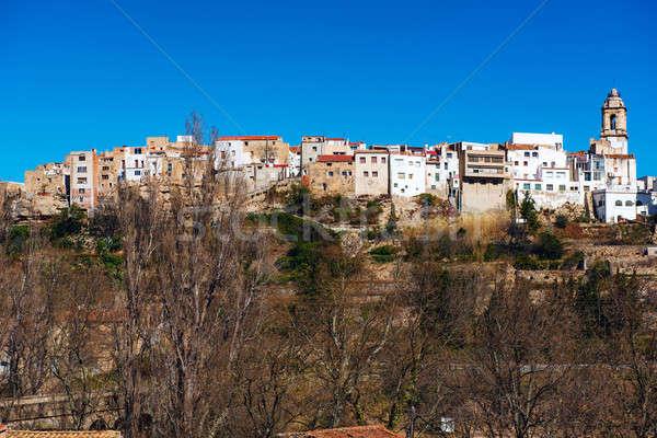 Foto stock: La · linha · do · horizonte · Espanha · típico · cidade · céu