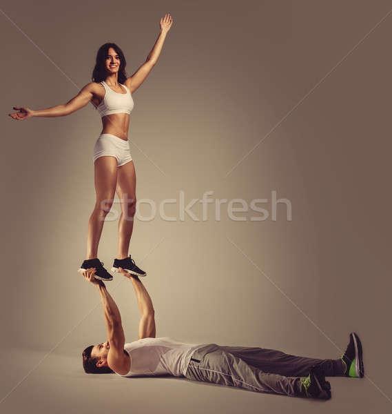 Athletic young couple  Stock photo © amok