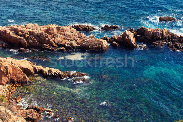 Beira-mar Espanha água natureza beleza azul Foto stock © amok