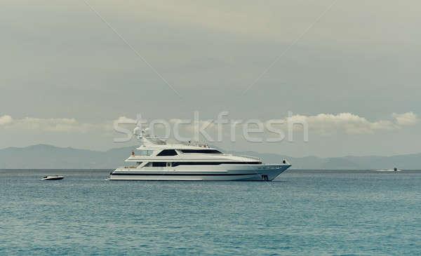 Motor Yacht at Cala Saona in Formentera. Balearic Islands. Spain Stock photo © amok