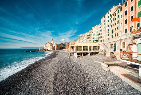 Kilátás kicsi olasz halászat falu turistaövezet Stock fotó © amok