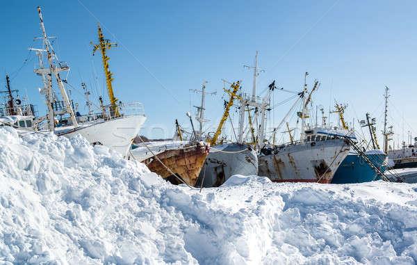 Ship graveyard. Petropavlovsk-Kamchatsky, Kamchatka, Russia Stock photo © amok