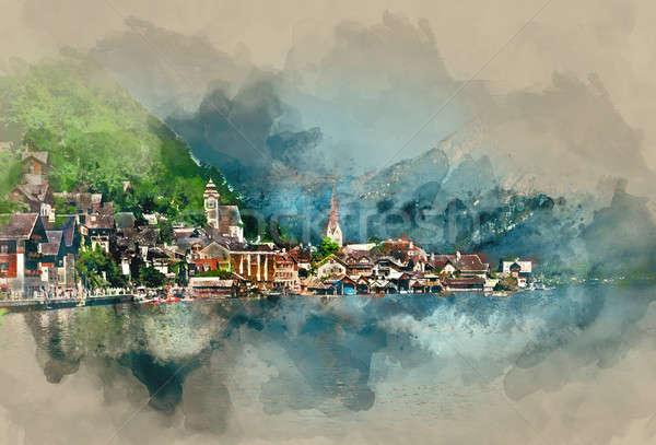 Hallstatt village, oldest village in Austria Stock photo © amok