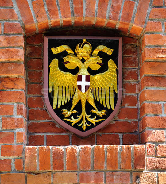 Coat of arms of Austria over brick wall Stock photo © amok