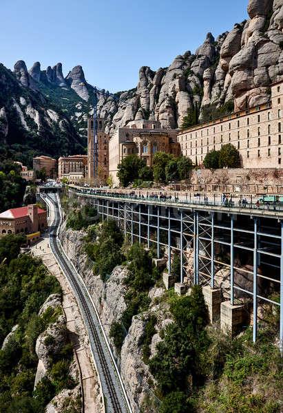 Mikulás Spanyolország látványos hegyek kolostor Barcelona Stock fotó © amok