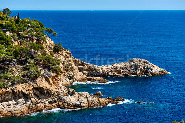 Rocky seaside of Tossa de Mar. Spain Stock photo © amok