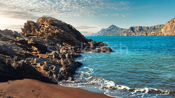 побережье Манга клуба пейзаж гор Сток-фото © amok