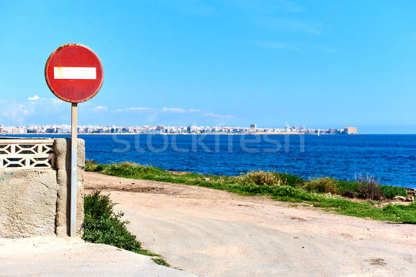 No Entry road sign. Spain Stock photo © amok