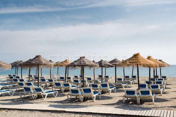 Strand Spanje natuur zee winter Blauw Stockfoto © amok